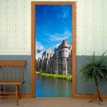 Portes décoratives vinyle Château de comtes de Gand