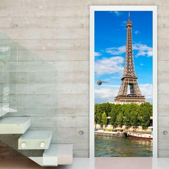 Vinyle portes Tour Eiffel Paris