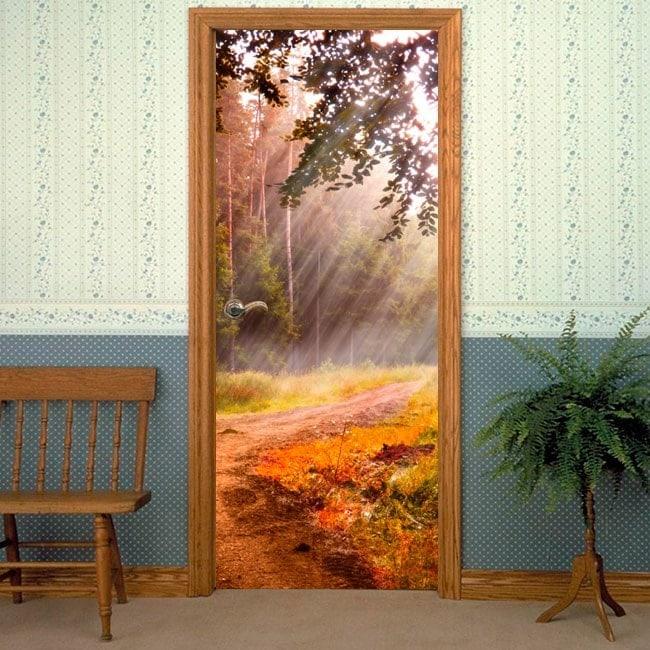 Portes Vinyls Sunbeams la nature