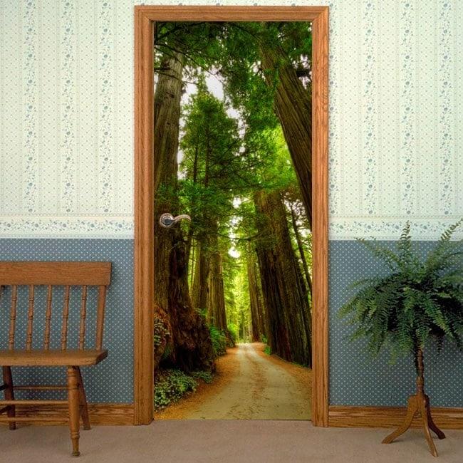 portes vinyls autocollants redwood national park. Black Bedroom Furniture Sets. Home Design Ideas