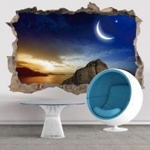 Sunset Magic Hole 3D vinyls mur
