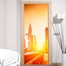 Mur Porte Decal Dubai City