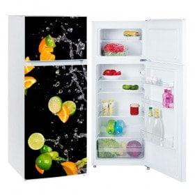 Réfrigérateurs Vinyls oranges et de citrons