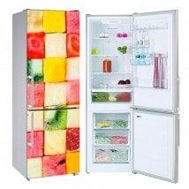 Vinyls pour les réfrigérateurs coupé en dés fruits