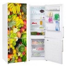 Vinyliques collage réfrigérateurs et fruits refroidisseurs