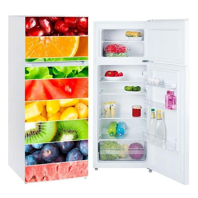 Vinyles pour réfrigérateurs fruits à franges