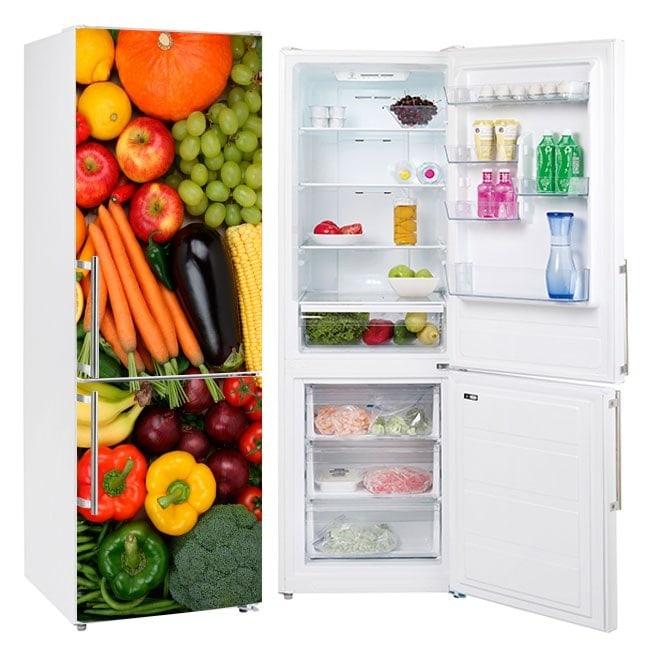 Vinyls les réfrigérateurs fruits et légumes