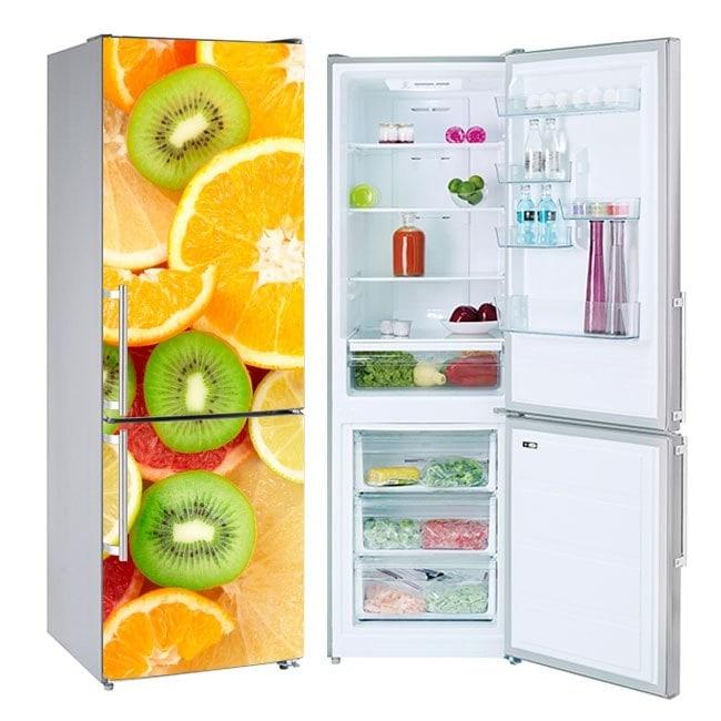 Vinyls les réfrigérateurs et fruits réfrigérés collage