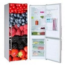 Collage fruits vinyls réfrigérateurs