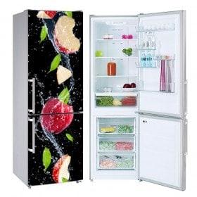 Vinyls réfrigérateurs splash pomme