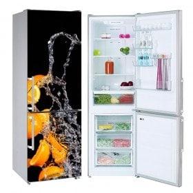 Réfrigérateurs décalcomanies éclaboussures d'orange