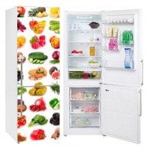 Vinyle pour réfrigérateurs fruits et légumes végétaux