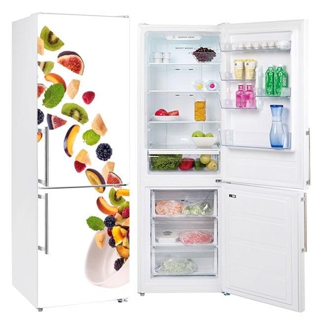 Autocollants fruits et vinyle pour les réfrigérateurs