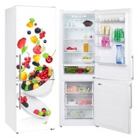 Réfrigérateurs Vinyls avec un bol de fruits