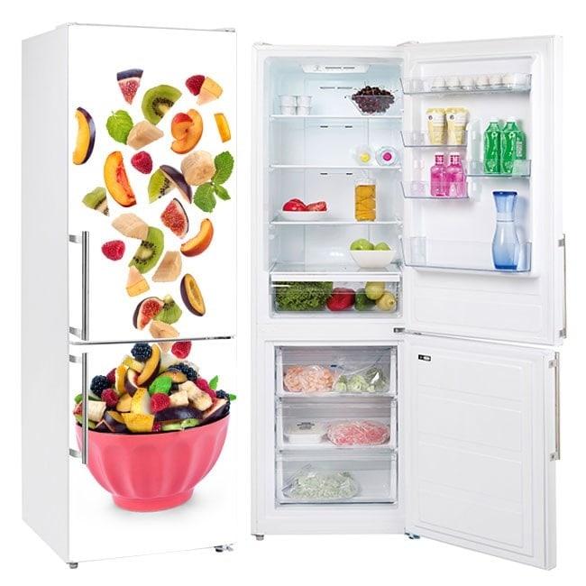 Autocollants de refrigeration avec un bol de fruits
