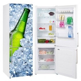 Autocollants en vinyle pour les réfrigérateurs bière glacée