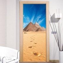 Stickers muraux décoratifs pyramides de Gizeh