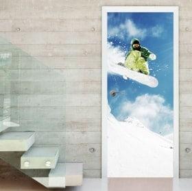 Vinyls pour portes snowboard