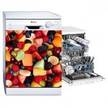 Autocollants décoratifs lave-vaisselle collage de fruits