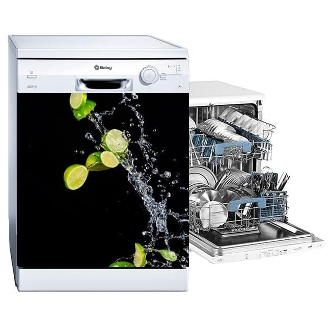 Vinyle lave-vaisselle citrons éclaboussures