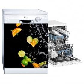 Vinyles lave-vaisselle Oranges et citrons