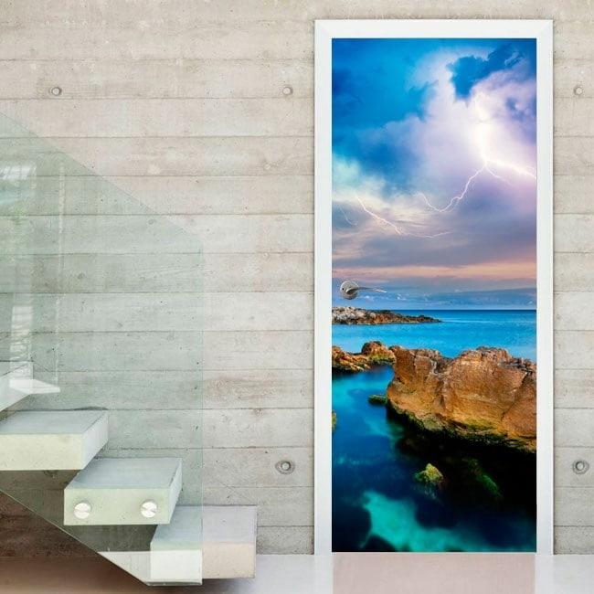 vinyls et autocollants pour portes rayons dans la mer. Black Bedroom Furniture Sets. Home Design Ideas