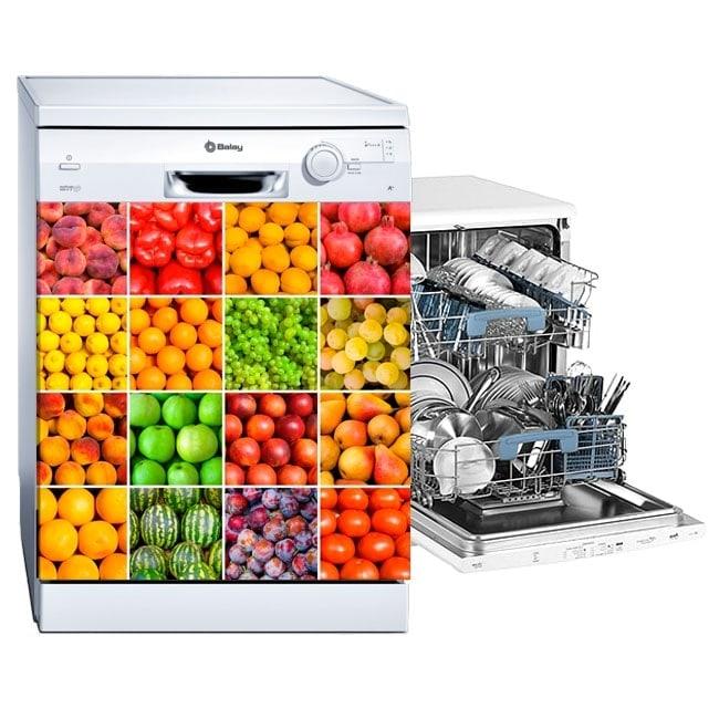 Autocollants pour lave vaisselle collage fruits et l gumes for Mon lave vaisselle fuit