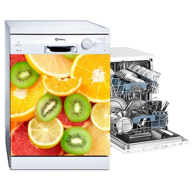 Vinyles lave vaisselle collage de fruits for Mon lave vaisselle fuit