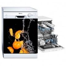 Lave-vaisselle orange splash vinyle