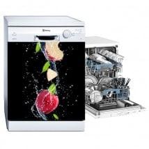 Lave-vaisselle vinyle pomme éclaboussures