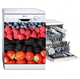 Lave-vaisselle vinyle fruits collage