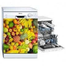 Autocollants décoratifs pour lave-vaisselle collage de fruits