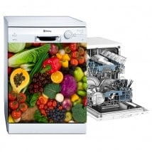 Vinyle décoratif lave-vaisselle légumes et fruits