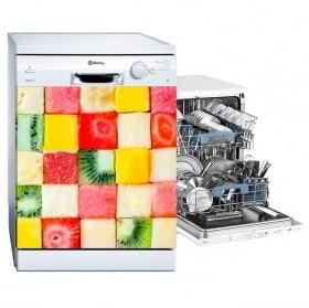 vinyls lave-vaisselle fruit en coupé