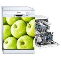 Stickers décoratifs lave-vaisselle pommes