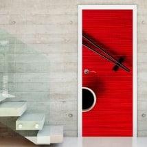 Portes en vinyle décoratives baguettes