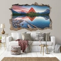 Vinyle 3D Sunset Lake Swift Current Canada
