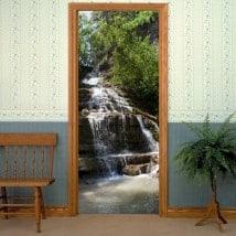 Décorations de portes cascade de montagne