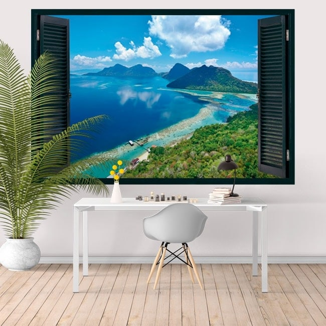 3D vinyle windows island Bohey Dulang Malaisie