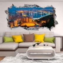 Vinyle 3D panoramique Málaga Espagne