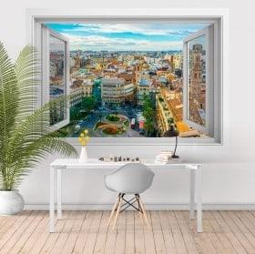 Fenêtres en vinyle 3D Valencia Place de la reine