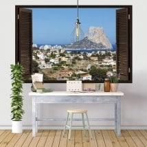 Fenêtres en vinyle 3D Rock of Gibraltar