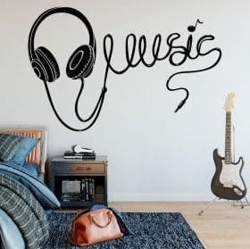 Autocollants écouteurs de musique