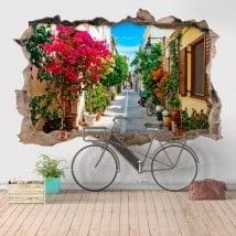 Stickers muraux 3D Rétino ville de Grèce