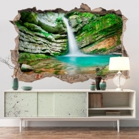 Stickers muraux cascade 3D en Slovénie