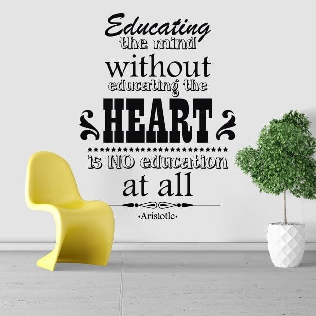 Autocollants phrases de motivation Aristote