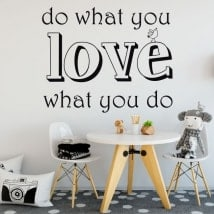 Autocollants texte do what you love