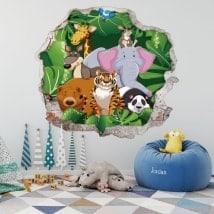 Zoo 3D pour enfants en vinyle