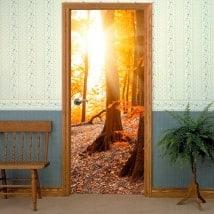 Autocollantes portes soleil sur la montagne