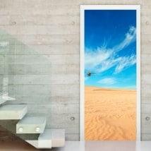 Autocollantes portes désert